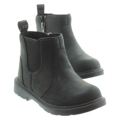 Kids UGG Bolden Chelsea Boots in Black