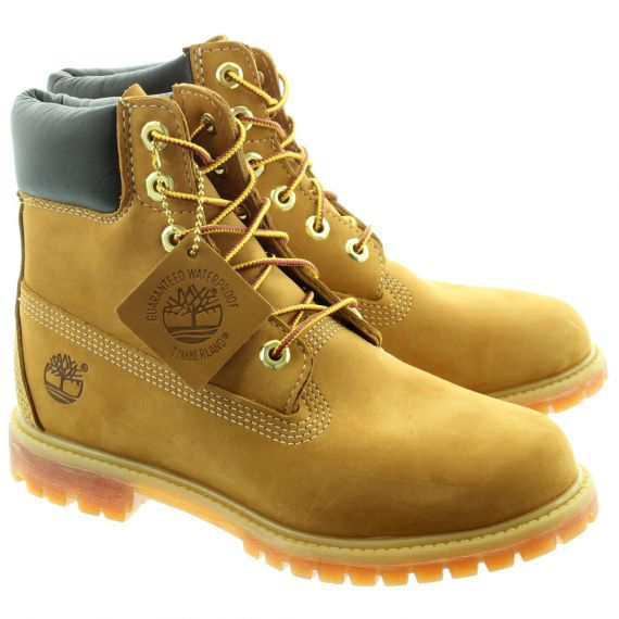 TIMBERLAND 10361 6 Inch Ladies Lace Boots in Wheat