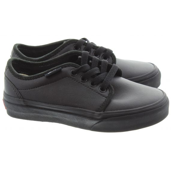 VANS 106 Kids Vulcanised Shoes In All Black