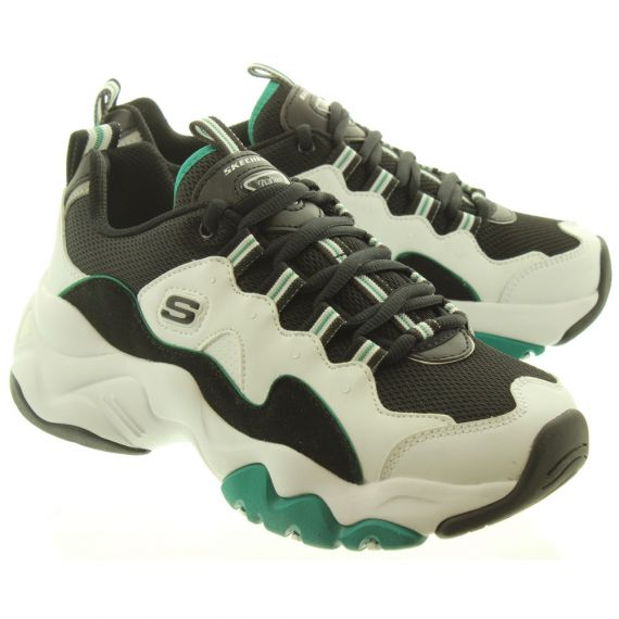 SKECHERS Ladies 12955 D'Lites In White And Green