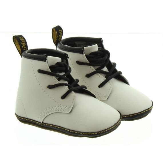 DR MARTENS 1460 Crib Boots In White