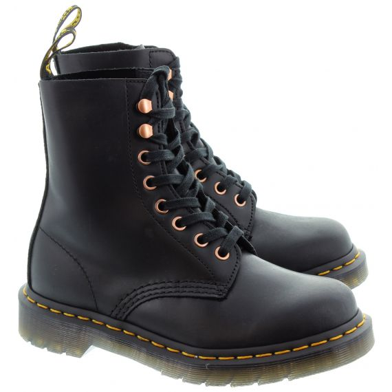 DR MARTENS Ladies 1460 Soapstone Ankle Boots In Black