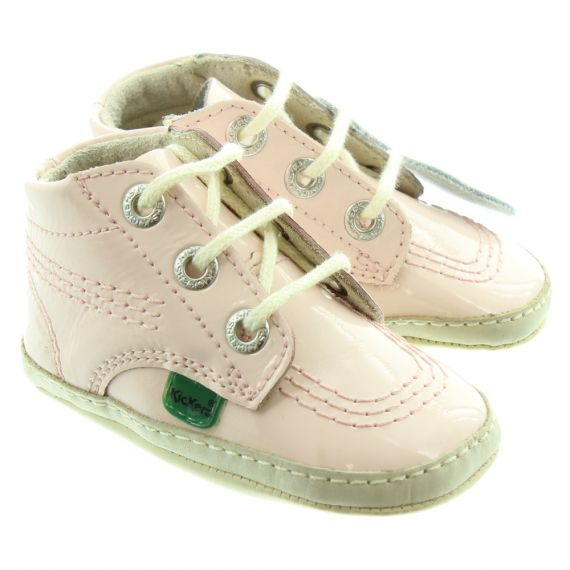 KICKERS 1st Kicks Baby Shoes In Light Pink