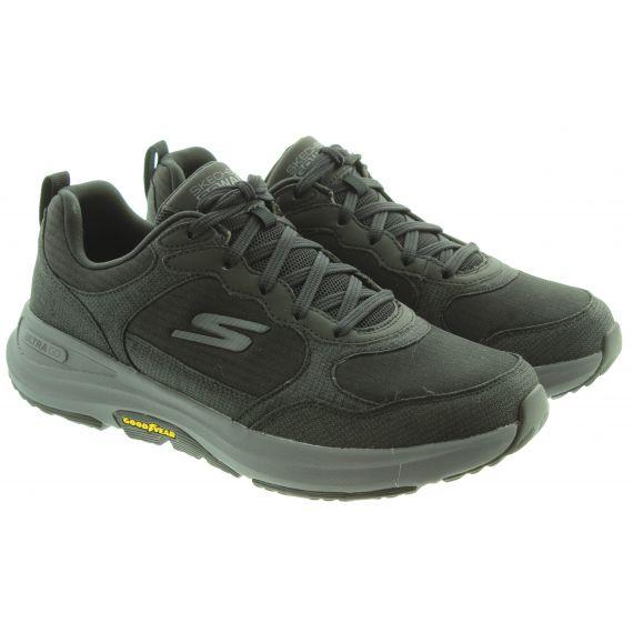 SKECHERS Mens 216107 Water Repellant Shoes In Black Charcoal