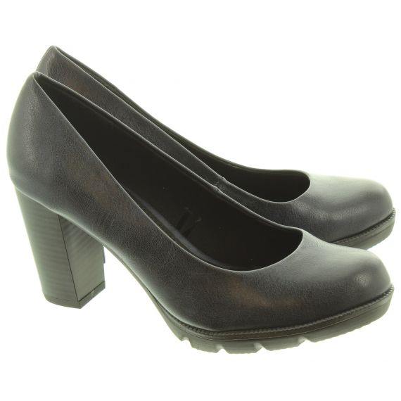 MARCO TOZZI Ladies 22404 Court Shoes In Navy