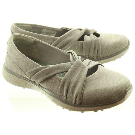 SKECHERS Ladies 23562 Knot Slip On Shoes In Grey