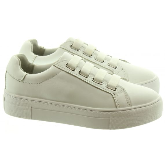 TAMARIS Ladies Tamaris 23795 Elastic Trainer in White