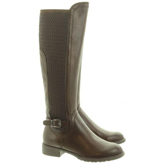 TAMARIS Ladies 25511 Knee Boots In Brown