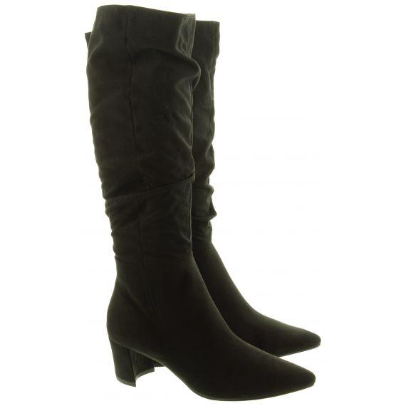 MARCO TOZZI Ladies 25512 Heel Knee Boots In Black