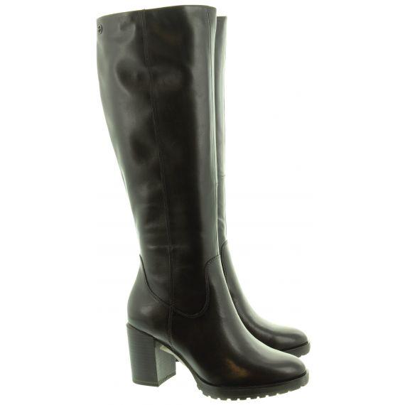 TAMARIS Ladies 2551623 Heel Knee Boots In Black