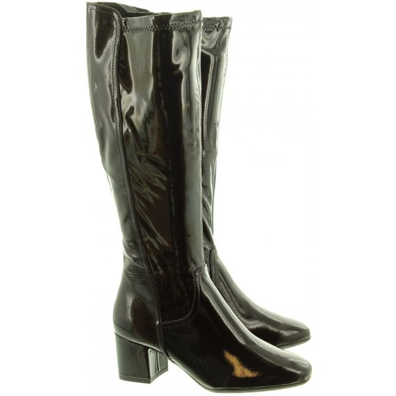 MARCO TOZZI Ladies 25521 Heel Knee Boots In Black