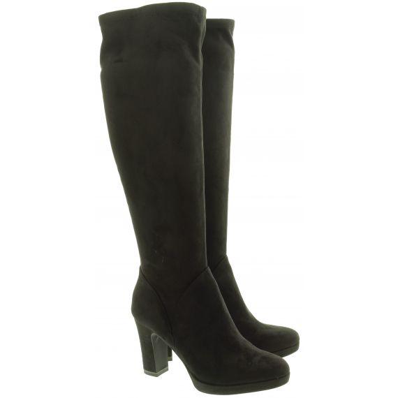 TAMARIS Ladies 25522 Heel Knee Boots In Black