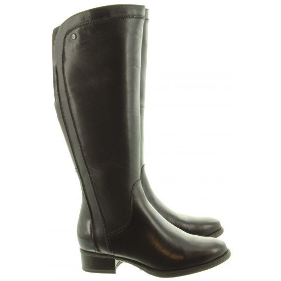 TAMARIS Ladies 25603 Flat Knee Boots In Black