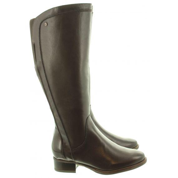 TAMARIS Ladies 25603 Flat Knee Boots In Brown
