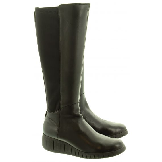 MARCO TOZZI Ladies 25614 Wedge Knee Boots In Black