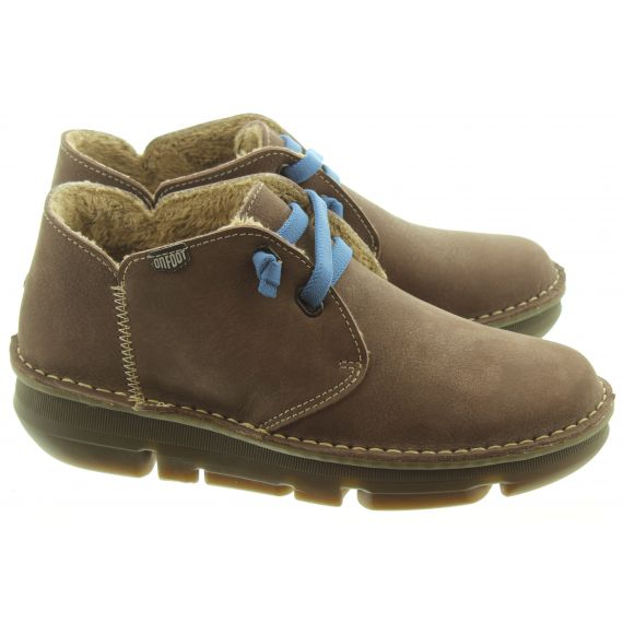 ON_FOOT Ladies 29000 Touch Low Ankle Boots In Brown
