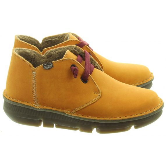 ON_FOOT Ladies 29000 Touch Low Ankle Boots In Yellow