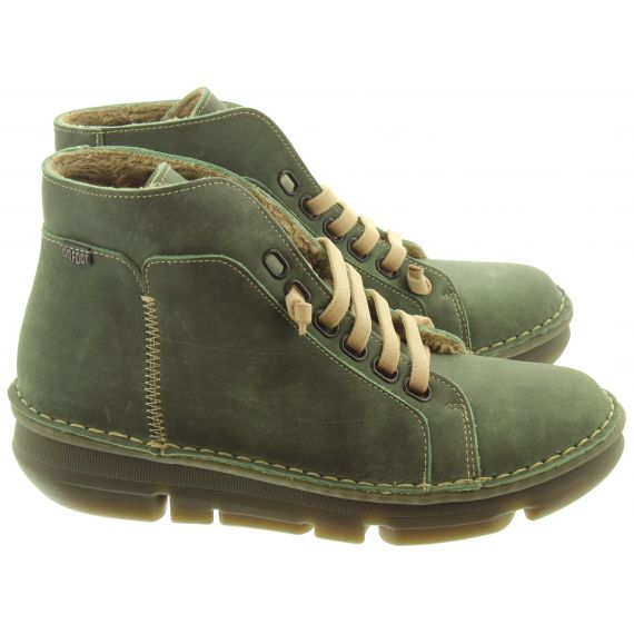 ON_FOOT Ladies 29001 Touch Ankle Boots In Khaki