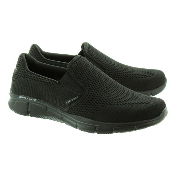 SKECHERS 51509 Equalizer Slip On Trainers In All Black
