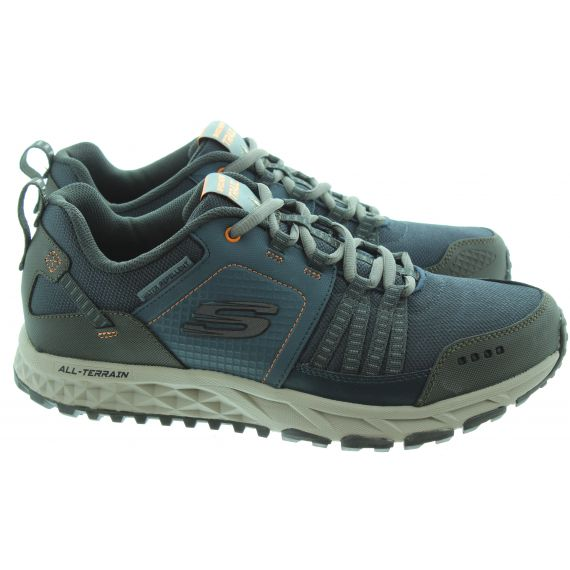SKECHERS Mens 51591 Trail Trainers In Navy And Orange