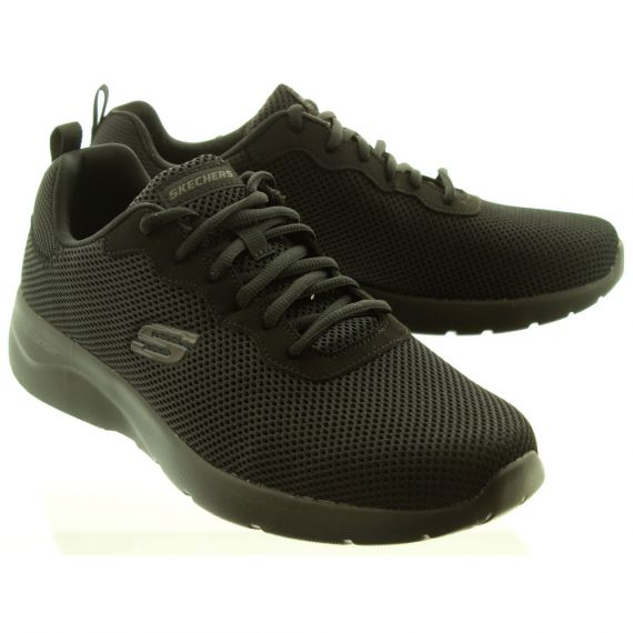 SKECHERS Mens 58362 Lace Trainers In Black