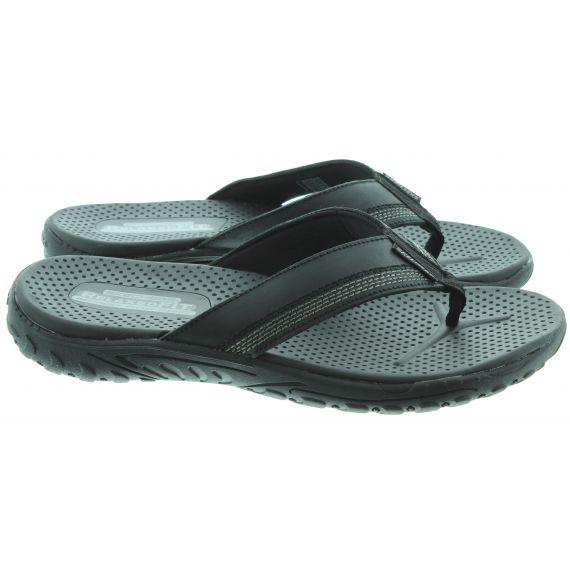 SKECHERS Mens 65460 Flip Flop Sandals In Black