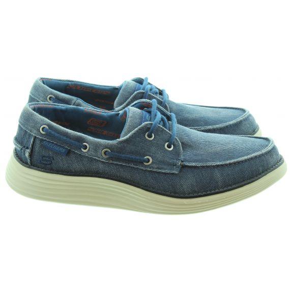 SKECHERS Mens 65908 Boat Shoes In Navy