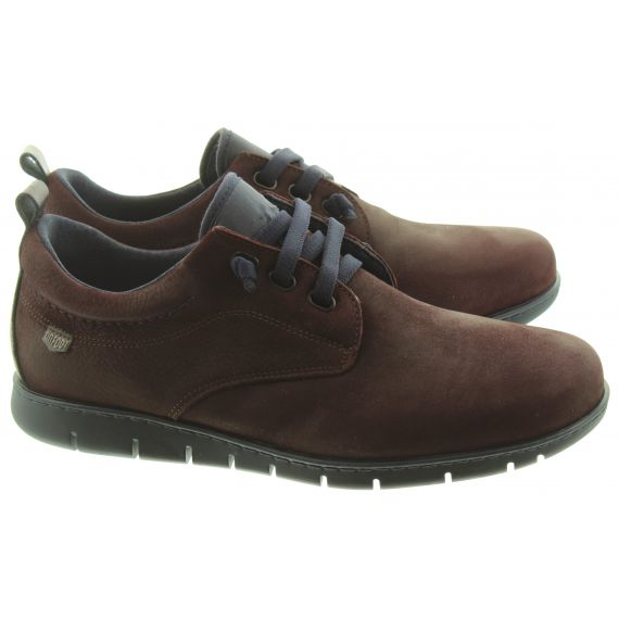 ON_FOOT Mens 8551 Flex Elastic Shoes In Burgundy