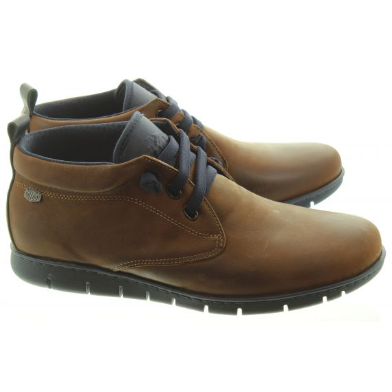 ON_FOOT Mens 8552 Flex Elastic Ankle Boots In Tan