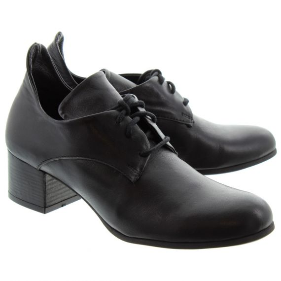 BUENO Ladies 8M0802 Heel Lace Shoes In Black