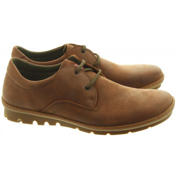 ON_FOOT Mens 9012 Uganda Lace Shoes In Tan