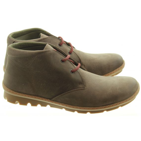 ON_FOOT Mens 9013 Uganda Lace Ankle Boots In Brown