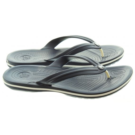 CROCS Adults Crocband Flip Flops In Navy