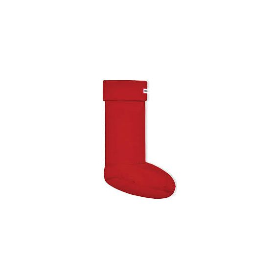 HUNTER Adults Fleece Welly Socks In Military Red
