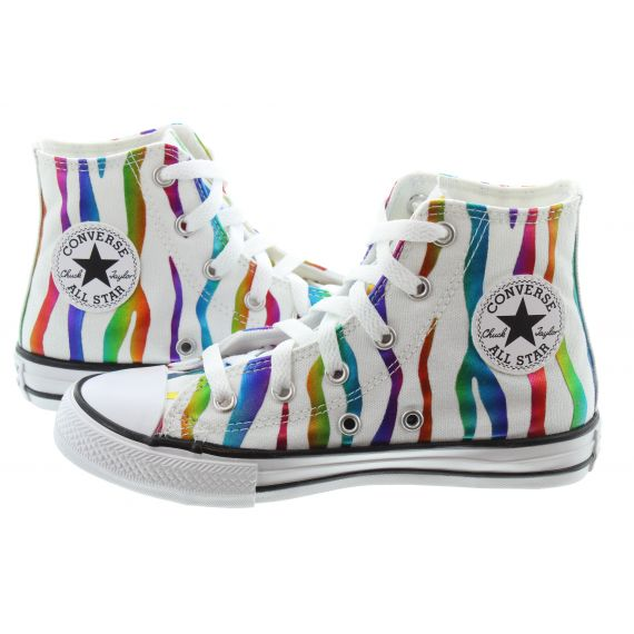 CONVERSE All Star Hi Kids Boots In White Multi
