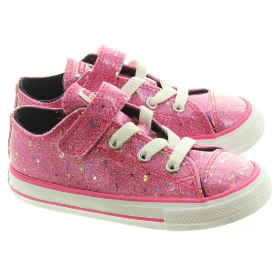 CONVERSE Kids Allstar 1V Ox Shoes In Pink