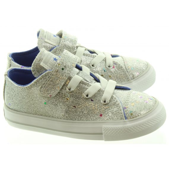 CONVERSE Kids Allstar 1V Ox Shoes In Silver
