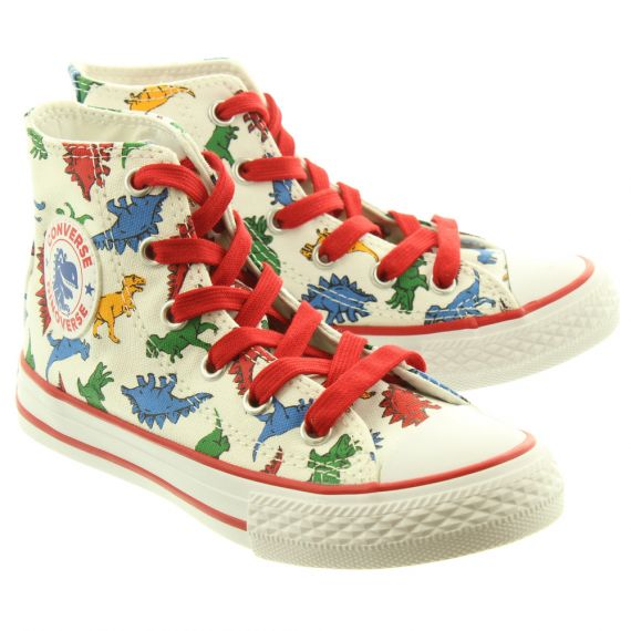 CONVERSE Canvas All Star Hi Kids Boots In Dino
