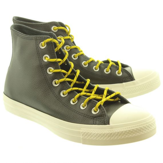CONVERSE Allstar Hi Leather Boots In Black And White
