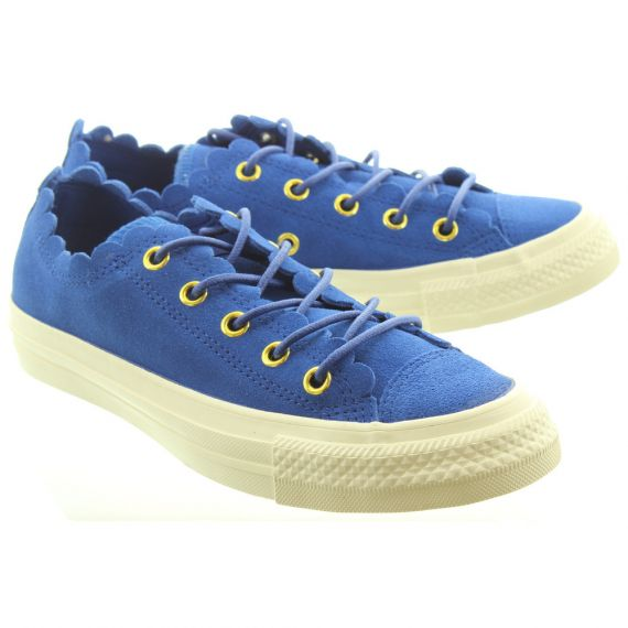CONVERSE Ladies Allstar Suede Shoes In Blue