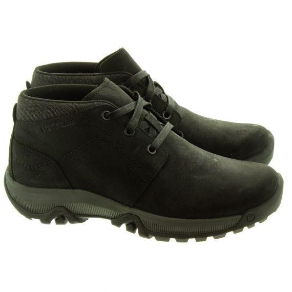 MERRELL Mens Anvik Pace Waterproof Chukka Boots In Black