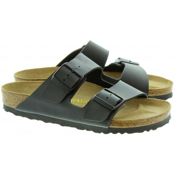 BIRKENSTOCK Arizona 2 Bar Buckle Mule Sandals in Black