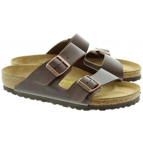 BIRKENSTOCK Arizona 2 Bar Mule Sandals in Brown
