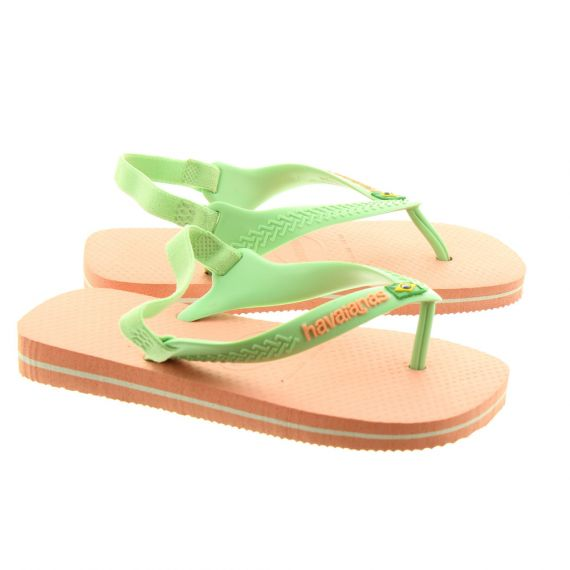 HAVAIANAS Baby Brazil Toe Post Sandals In Light Pink