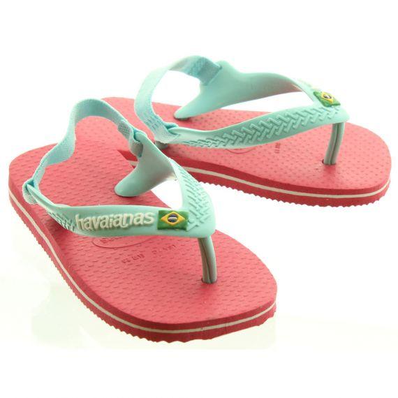 HAVAIANAS Baby Brazil Toe Post Sandals In Flamingo Pink