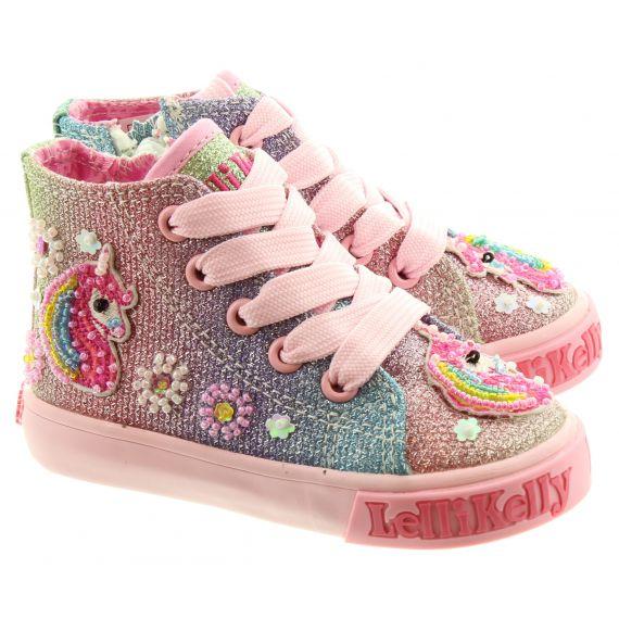LELLI KELLY Baby LK1006 Unicorn Boots In Multi Glitter
