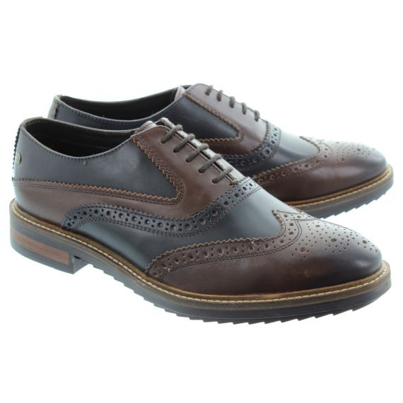 BASE Mens Bale Brogue Shoes In Brown