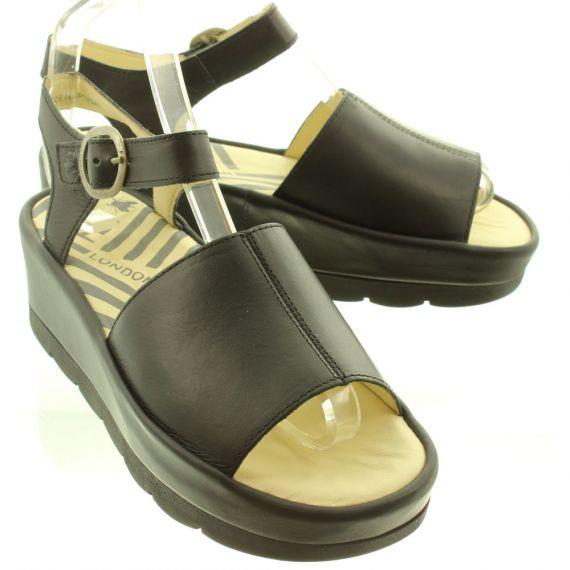 FLY Ladies Bano Flatform Sandal In Black