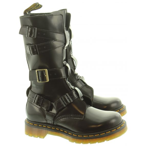 DR MARTENS Ladies Blake Tall Calf Boots In Black