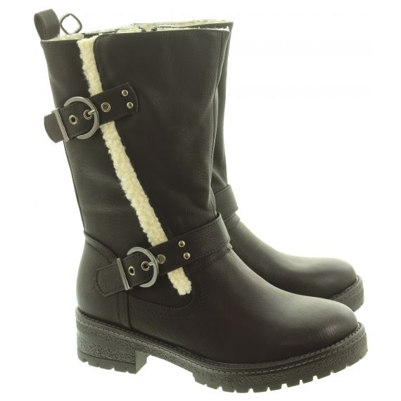 HEAVENLY FEET Ladies Bonnie Calf Boots In Black
